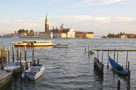 campanille: The church of San Giorgio Maggiore, in Venice Italy. Stock Photo