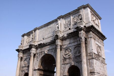 constantine: The Arch of Constantine of in Rome, Italy. Stock Photo