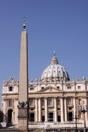 peters: The obelisk called The Witness with St. Peters basilica in the background.  The obelisk gets its name because it witnessed the the Peters crucifixion.