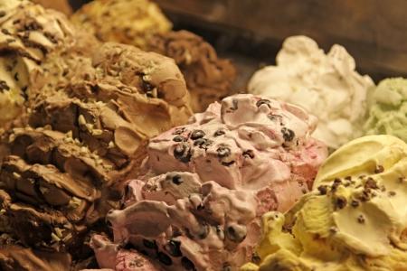 gelato: Delicious flavours gelato found in Florence, Italy. Stock Photo