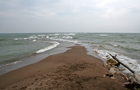 erie: The actual point of Point Pelee National Park, in Ontario Canada   The point is the most southernly  land mass  park of Canada