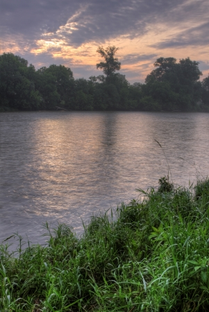 An HDR (High Dynamic Range) shot of the Grand River, shot in Kitchener, Ontario, Canada.