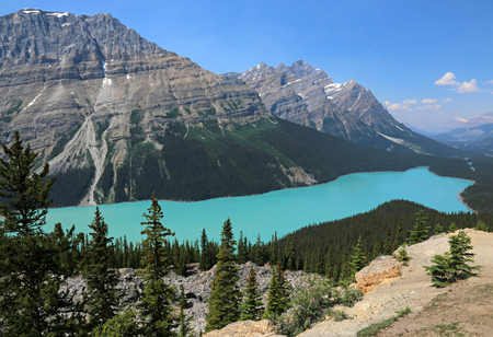 alberta: Peyto Lake (pea-toe) in Banff National Park, Alberta, Canada.