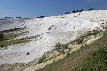 Pamukkale, which means cotton castle in Turkish, is natural site in southwest Turkey.