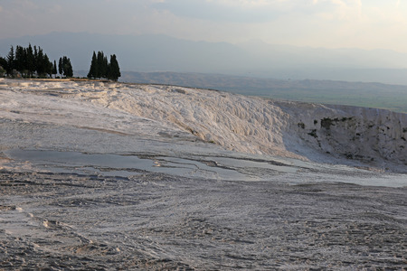 The terraces of Pamukkale, which means