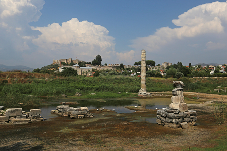 The remains of the Temple of Artemis, located just outside Selçuk, Turkey.