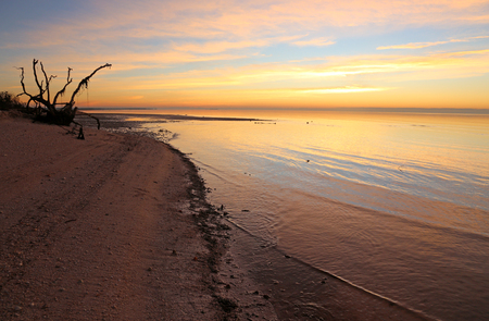 The stunning sunrise on the East Cape of Everglades National Park, Florida.