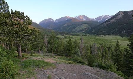 A gorgeous vista of West Horseshoe Park in Rocky Mountain National Park, Colorado, USA. Stock Photo - 109275870