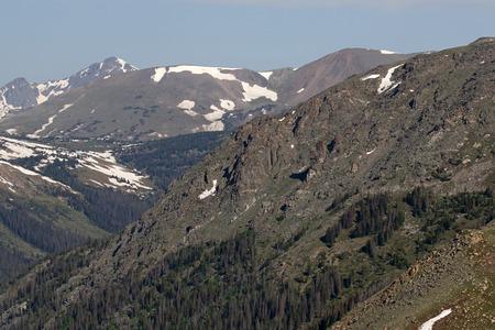 An alpine ridge shot just off the Trail Ridge road in Rocky Mountain National Park, Colorado, USA.