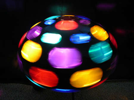 Spinning Disco Ball Stock Photo