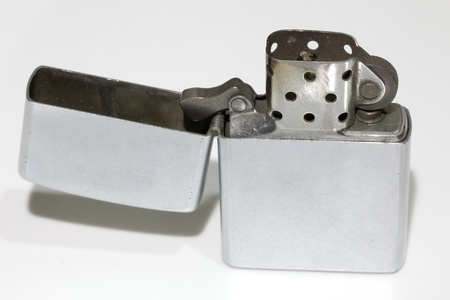 Old metal lighter Stock Photo - 19375486