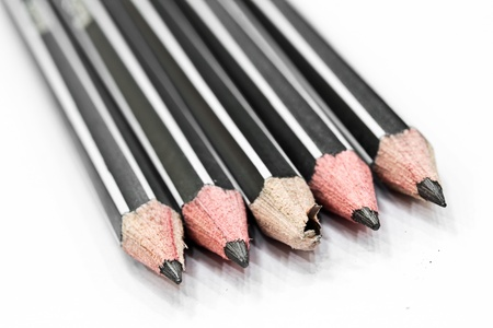 Pencils and white background  photo