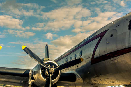 Douglas DC-4 airplane stationed at Berlin Tempelhof Airport