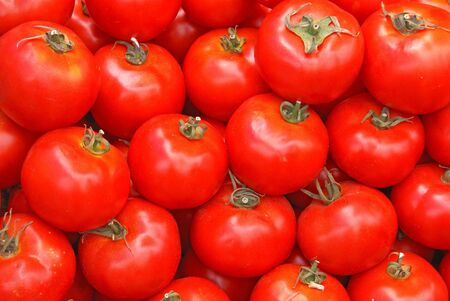 tomatos: Pile of ripe red tomatos                   Stock Photo