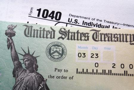 rendement: Belastingaangifte controleren 1.040 vorm achtergrond