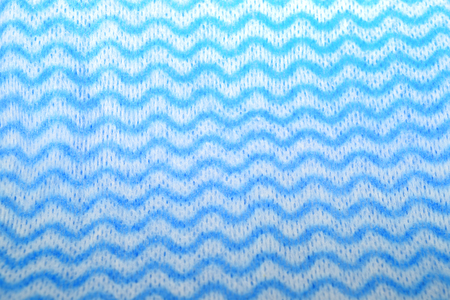 zig zag: Blue and white sponge cloth (cleaning cloth) with zig zag wavy pattern