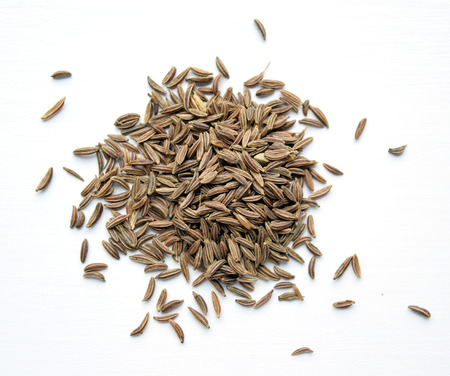 eastern european: Pile of caraway seeds, used in Eastern European, Middle Eastern, and Indian cuisine.  Related to carrot family.