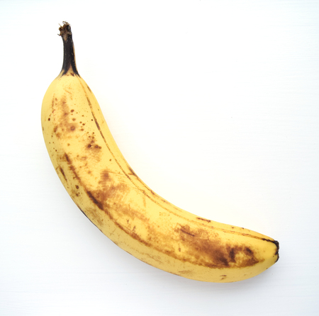 bad banana: Overripe banana ready to eat, isolated on white background