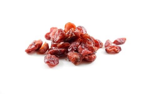 sweetened: Sweetened dried cranberries, isolated Stock Photo