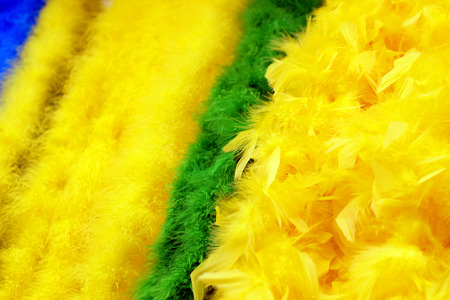 boas: Various colorful feather boas in store for sale Stock Photo