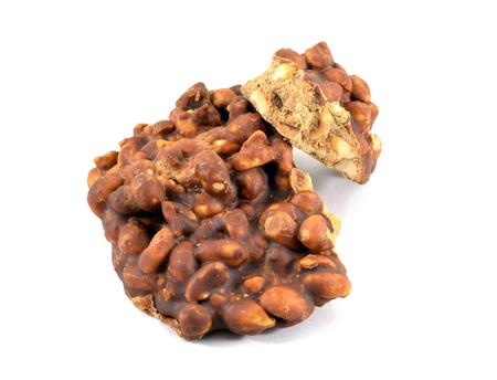 Brazilian pe de moleque (Portuguese for boys foot) peanut dessert typical for festa junina (June Festival)