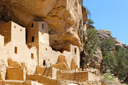 kiva: Mesa Verde National Park - Cliff Palace Stock Photo