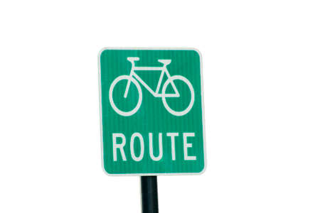 road cycling: bike route background removed Stock Photo