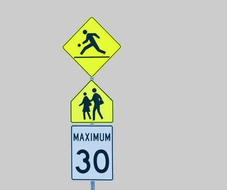 removed: playground zone signs background removed
