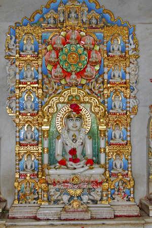 jain: Holy shrine inside a Jain temple in Mumbai, India Stock Photo