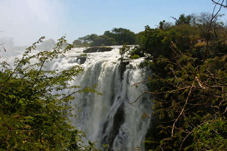 cataract falls: View of the east cataract, Victoria Falls, seen from the Zambian side
