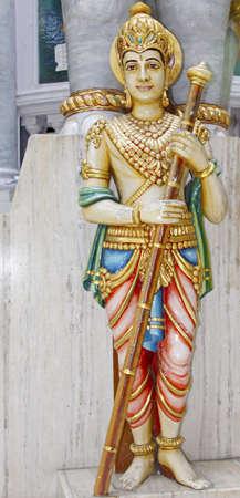 jain: Statuette outside a Jain temple in Mumbai, India