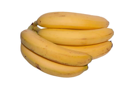 Bunch of bananas isolated against a white background photo
