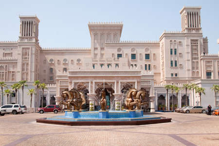 busts: A view of the front of the luxurious five star Madinat Jumeirah hotel in Dubai Editorial