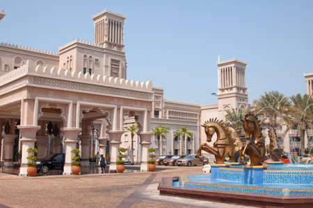 busts: Front entrance of the Madinat Jueirah hotel in Dubai