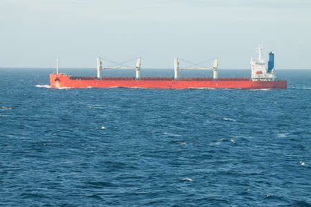 Merchant tanker going about it photo