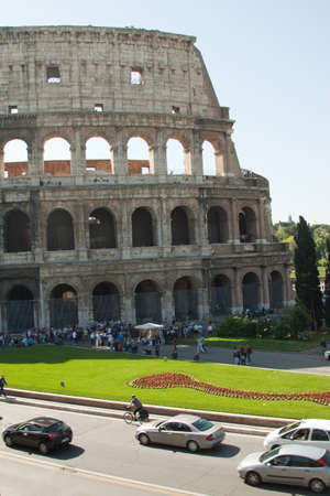 The colosseum  A huge tourist attraction in Rome Stock Photo - 13983315