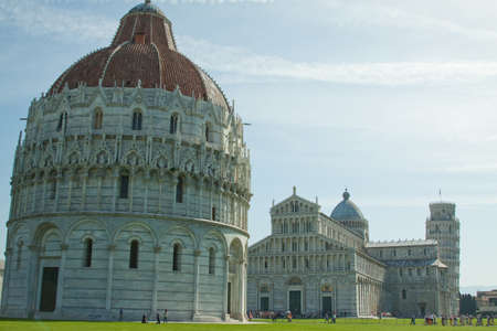 The Three elements of the field of miracles in Pisa, Italy photo