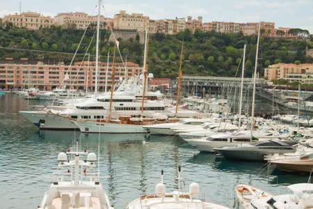 A view of the marina and hillside in Monte Carlo photo