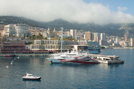 A view of the Monte Carlo coastline on a cloudy day photo