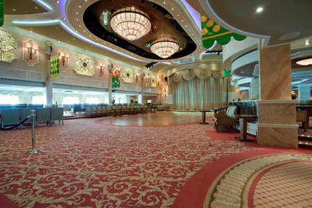 A luxurious ballroom with crystal chanderliers Stock Photo - 14277904