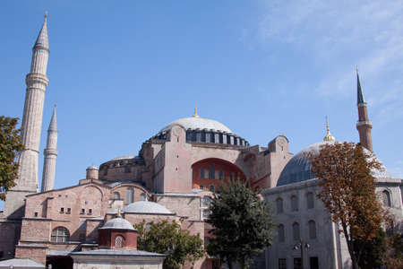 The Hagia Sophia museum on the banks of the Bosphorus in Istanbul, Turkey  The Hagia Sophia was formerly both a church and a mosque before becoming a museum