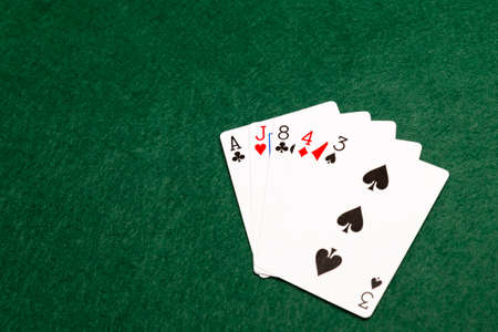 money packs: High card, the lowest value hand in poker. five cards of different values from two or more suits.