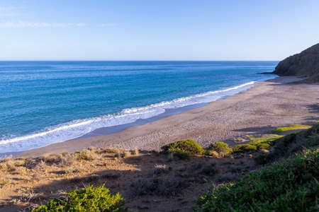 Bordenares beach, on the coast of Almeria, a virgin beach of so many that has Almeria.