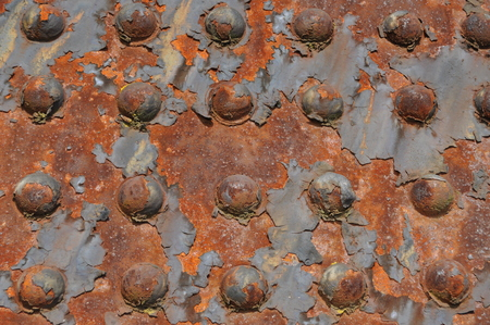 oxidized: Rusty Rivets Stock Photo