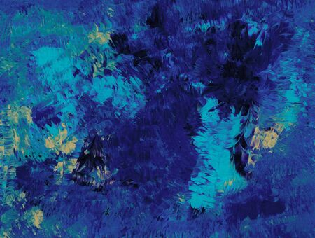 abstract paintings: Retinal Blue