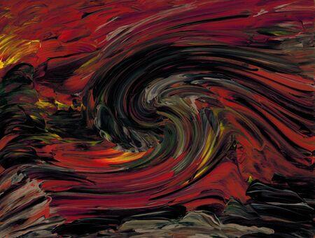 swirled: Red orange swirled palette Stock Photo