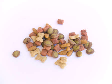 Dog Food petit tas Banque d'images