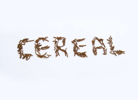 Cereal Spelling Out the Word Cereal