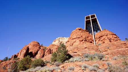 The Majestic Holy Cross in Sedona, Arizona Stock Photo