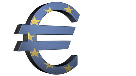 European Union Euro Flag Reflection Stock Photo